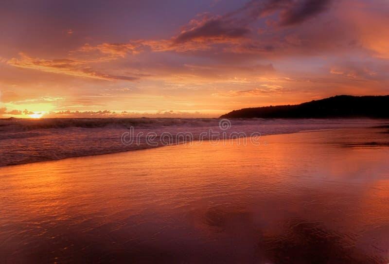 solnedgång för 3 karon arkivfoton