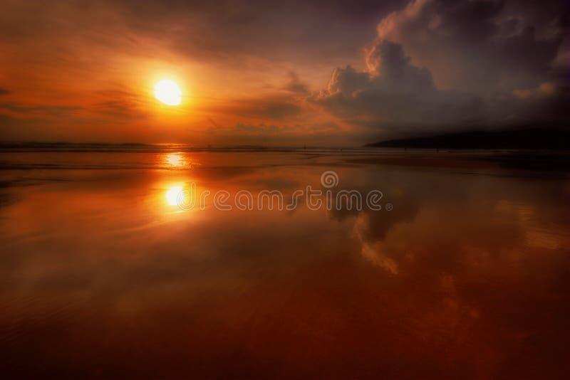 Solnedgång För 3 Phuket Royaltyfri Foto