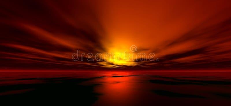 solnedgång för 4 bakgrund royaltyfri illustrationer