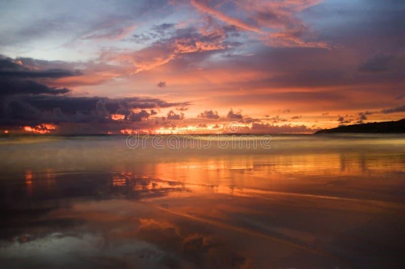 solnedgång för 4 karon royaltyfri fotografi