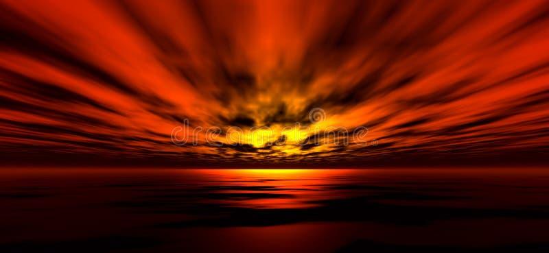 solnedgång för 5 bakgrund royaltyfri illustrationer