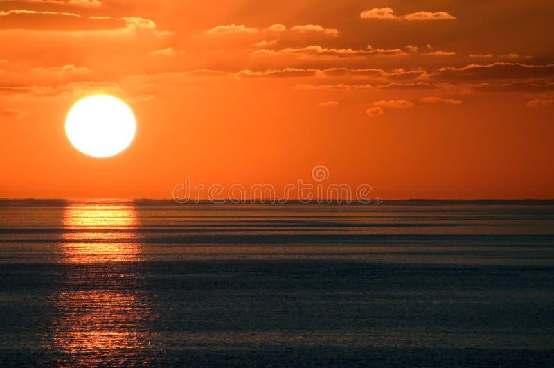 solnedgång för 6 carib royaltyfria foton
