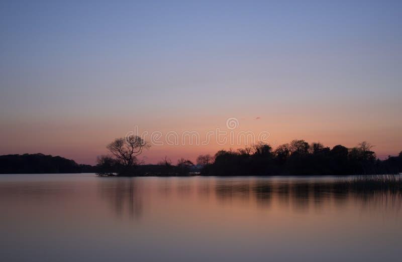 Solnedgång För Ireland Killarney Lakescenics Arkivfoton
