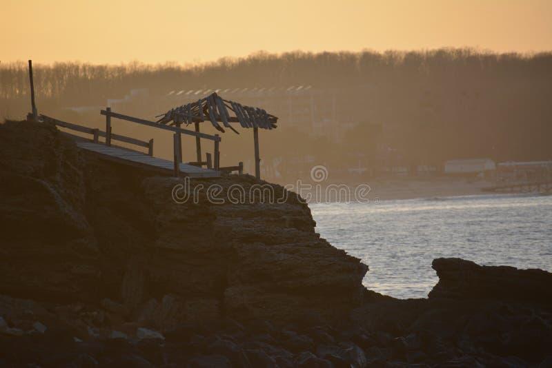 Solnedgång för strand för lopp för Beaty vattensol royaltyfri bild