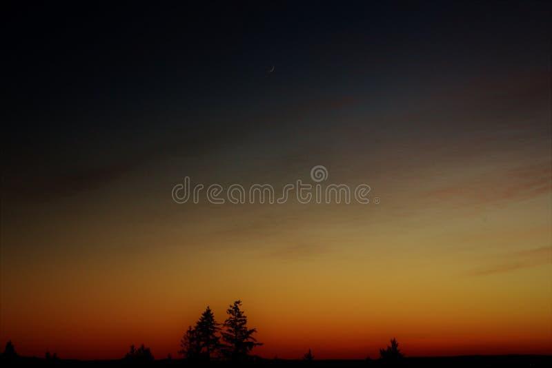Solnedgång in F. KR. arkivfoto