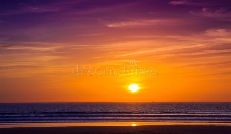 Solnedgång i Agadir, Marocko royaltyfri foto