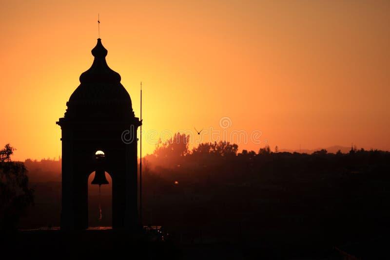 Solnedgång i Arequipa fotografering för bildbyråer