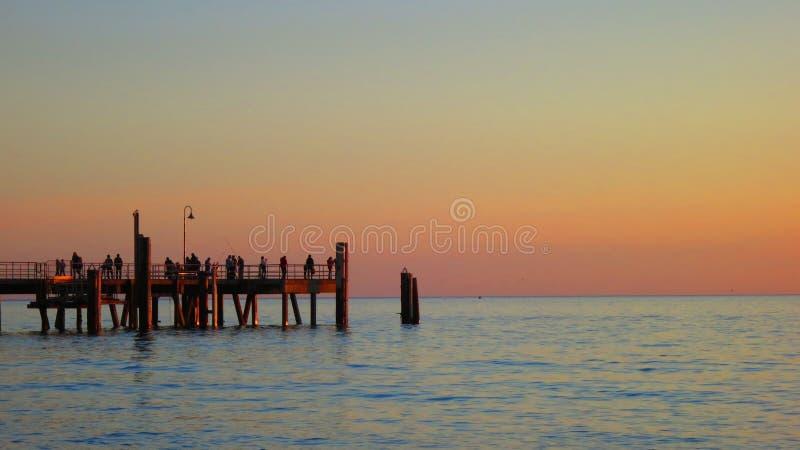 Solnedgång i Australien arkivbild