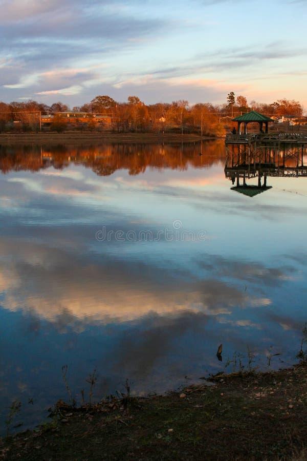 Solnedgång i Benton royaltyfri fotografi
