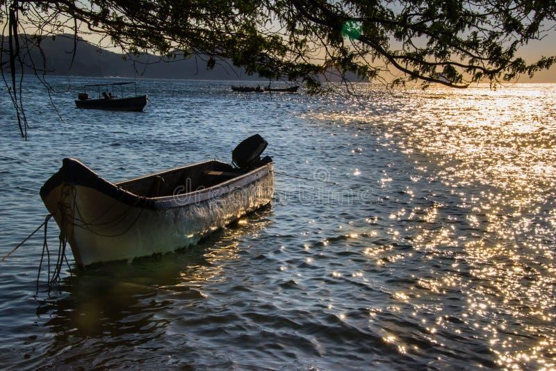 Solnedgång i den atlantiska kusten royaltyfria bilder