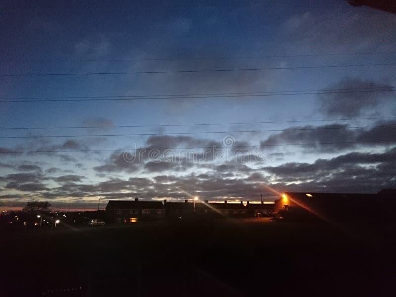 Solnedgång i England fotografering för bildbyråer