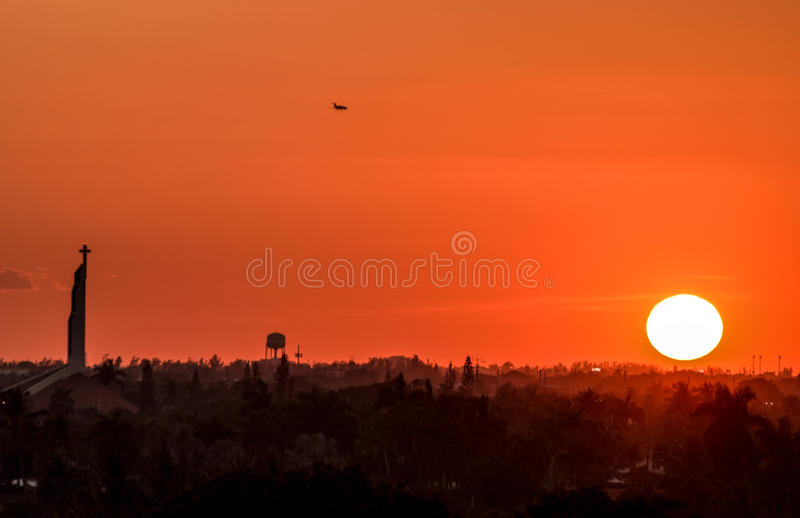 Solnedgång i Fort Lauderdale royaltyfri foto