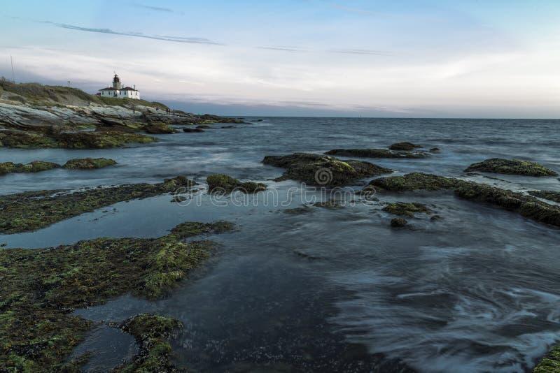 Solnedgång i Jamestown RI fotografering för bildbyråer