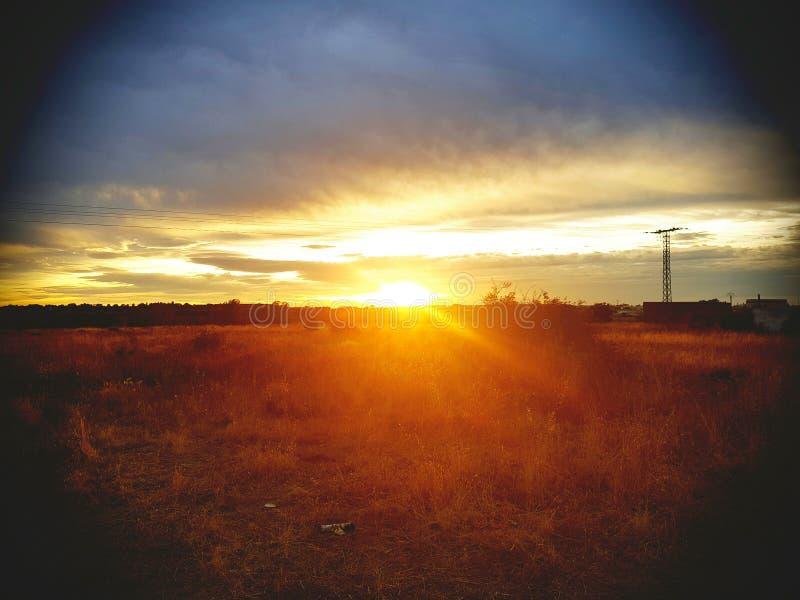 Solnedgång i paradis fotografering för bildbyråer