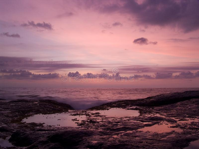 Solnedgång i Sri Lanka royaltyfria foton