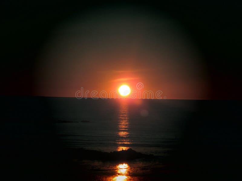 Solnedgång i WA arkivbild