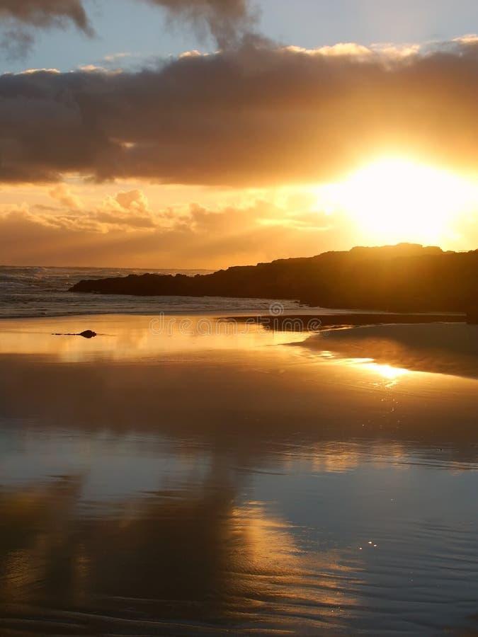 Solnedgång i Warrnambool, Australien royaltyfri foto