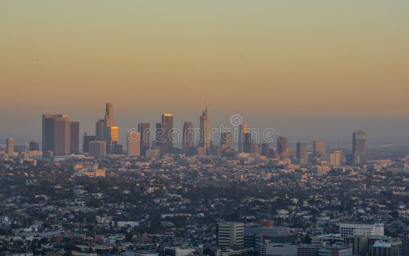 Solnedgång Los Angeles arkivbilder