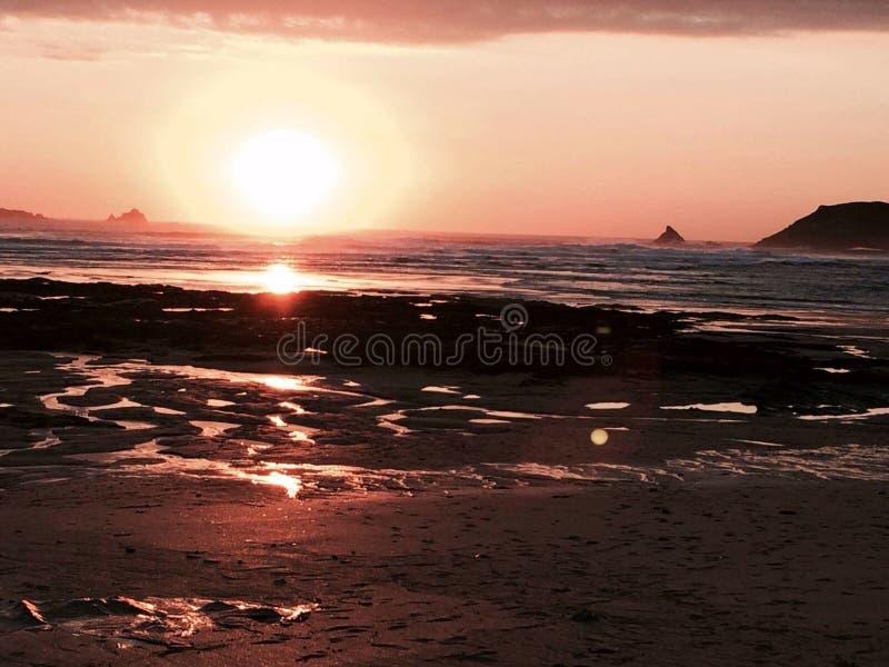 Solnedgång på fotografering för bildbyråer