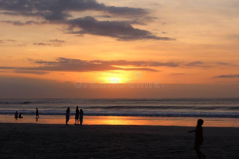 Solnedgång på den tiden royaltyfri foto