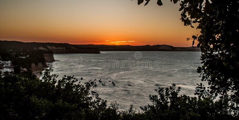 Solnedgång på El Mirante royaltyfri fotografi