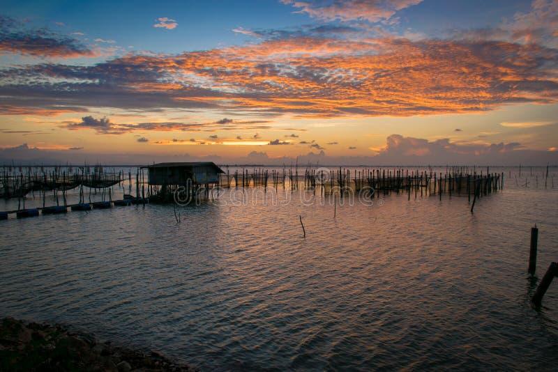 Solnedgång på kohyoen royaltyfri fotografi