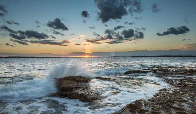 Solnedgång på Laperouse, Sydney arkivfoton