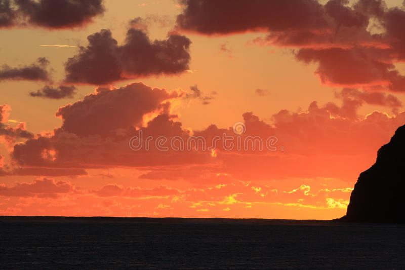 Solnedgång på Lord Howe Island royaltyfri foto