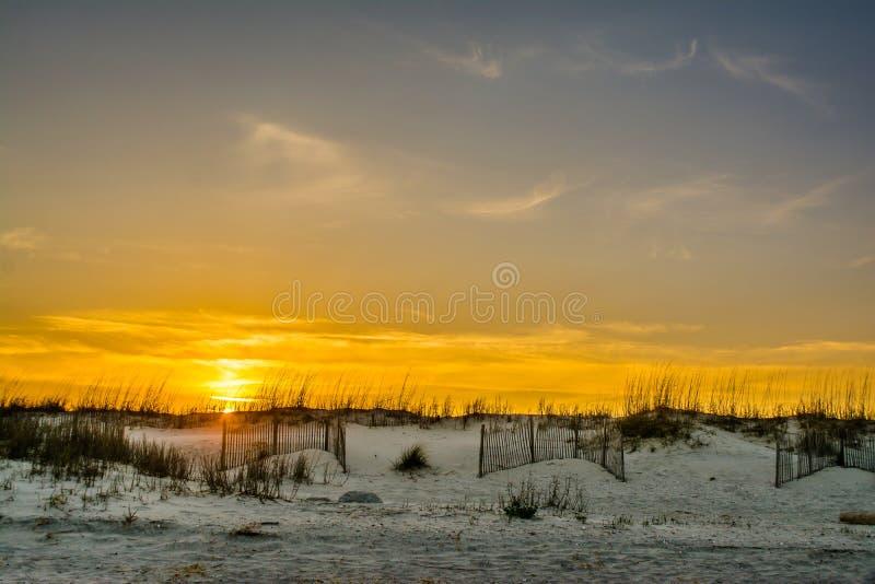 Solnedgång på Pawleys royaltyfri foto