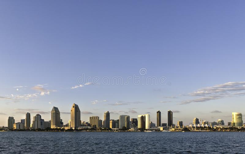 Solnedgång på San Diego royaltyfria bilder
