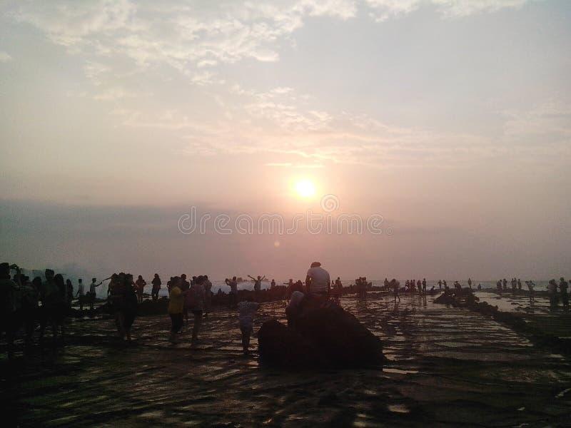 solnedgång på sawarnaen arkivbilder