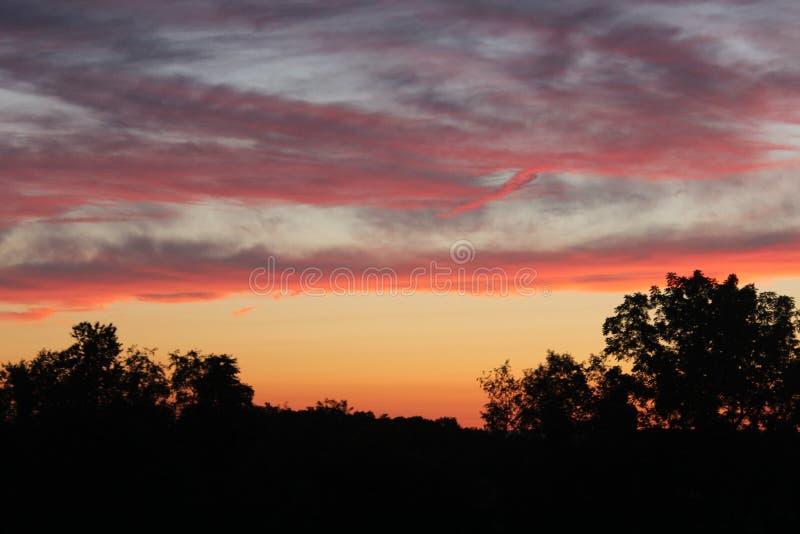 Solnedgång på Terra arkivbilder