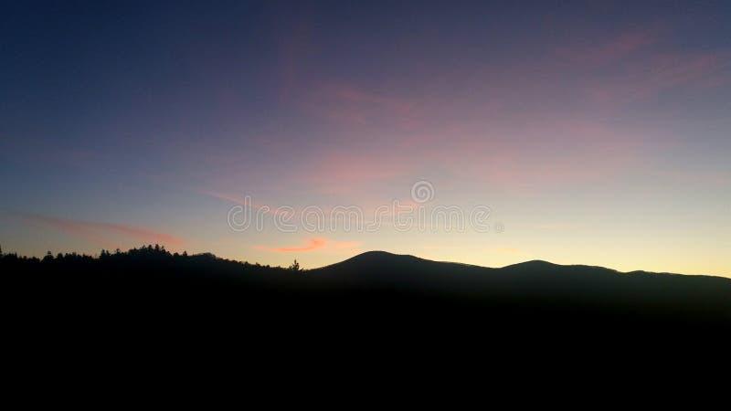 Solnedgång - Slovenien arkivfoton