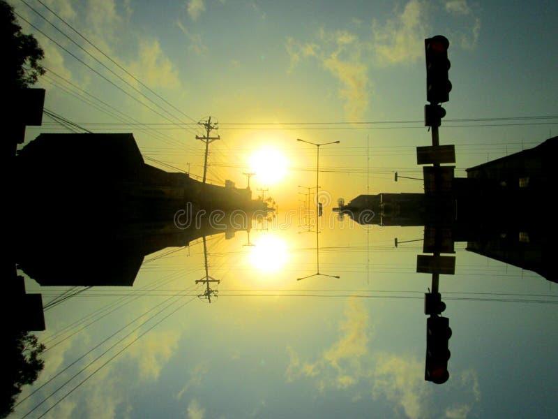 Solnedgång & soluppgång royaltyfri fotografi