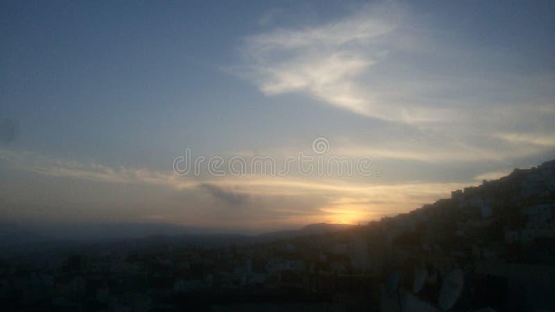 Solnedgång 2 Tetouan Marocko arkivbilder