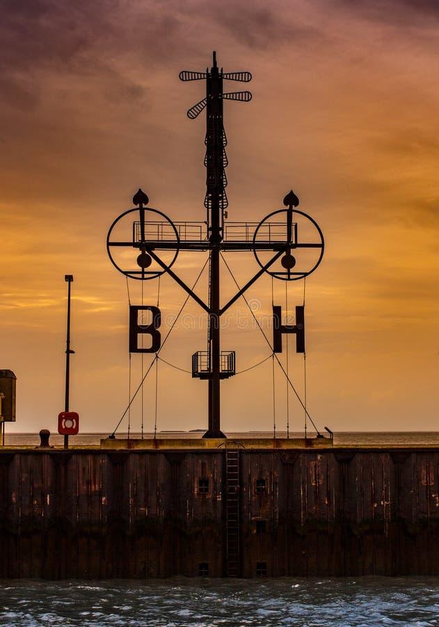 Solnedgång till bornholm arkivbilder