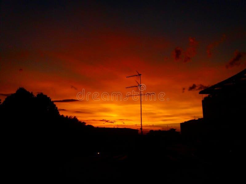 solnedgång venice royaltyfria foton