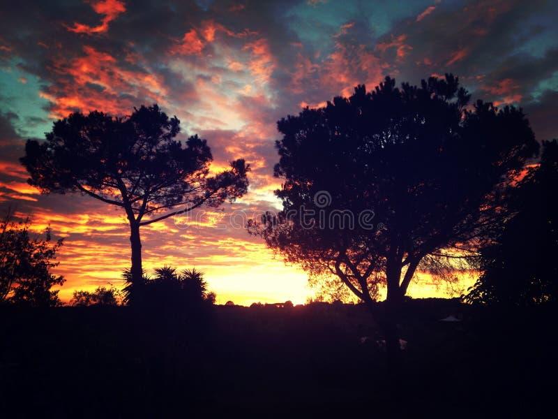 Solnedgång vix arkivfoto