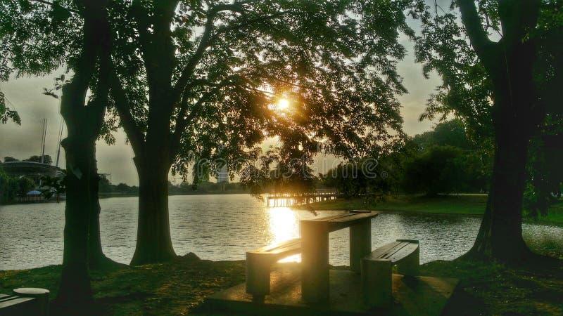 Solnedgångdatum arkivbilder