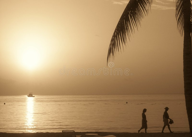 solnedgången går royaltyfri fotografi