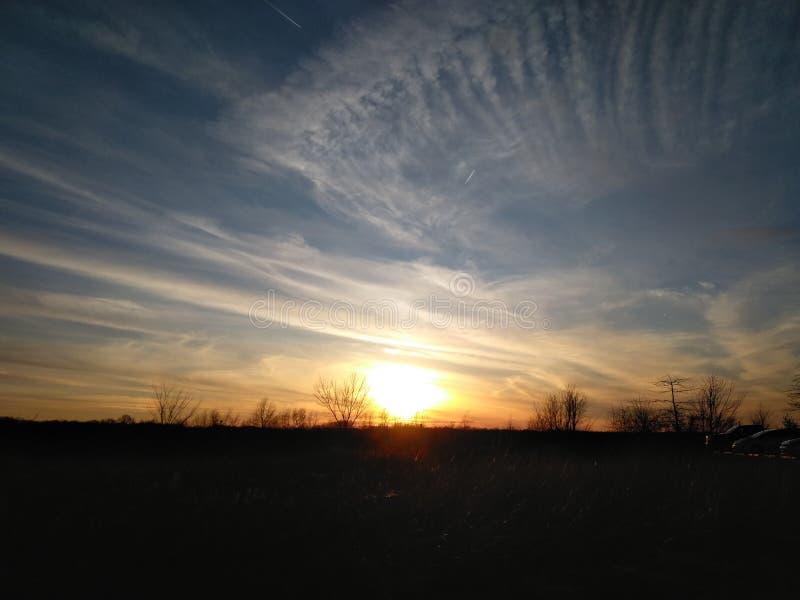 Solnedgången på gryning royaltyfri foto