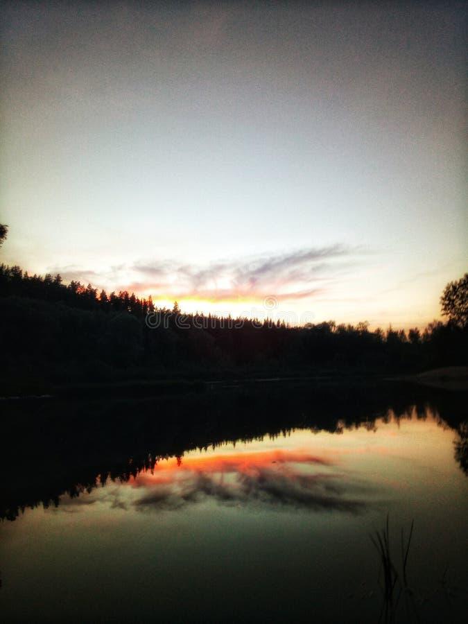 Solnedgången talar fotografering för bildbyråer