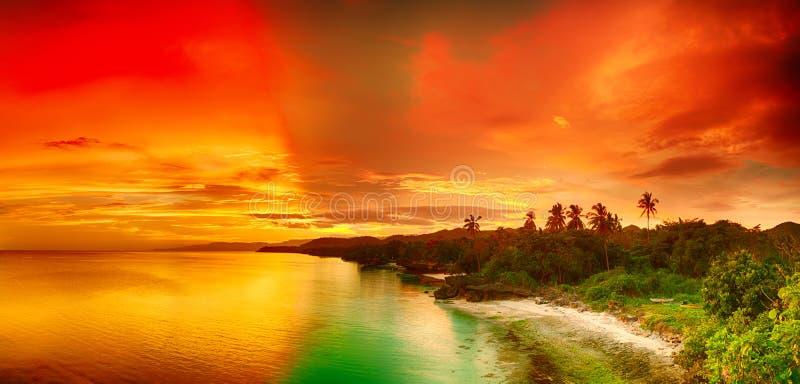 Solnedgångpanorama fotografering för bildbyråer