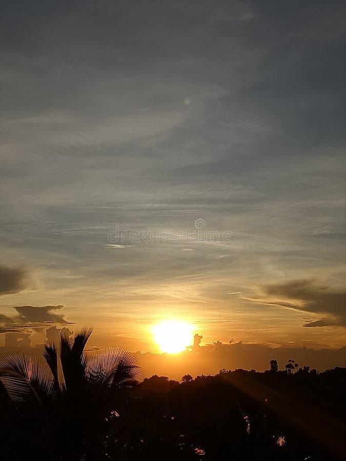 Solnedgångsikt 2 royaltyfria foton