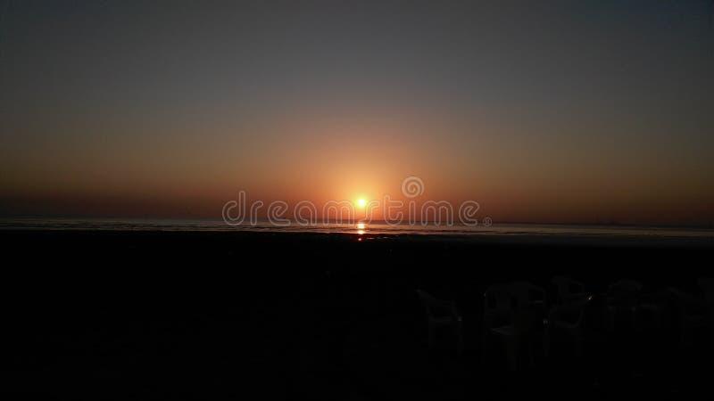 Solnedgångsikt arkivfoto