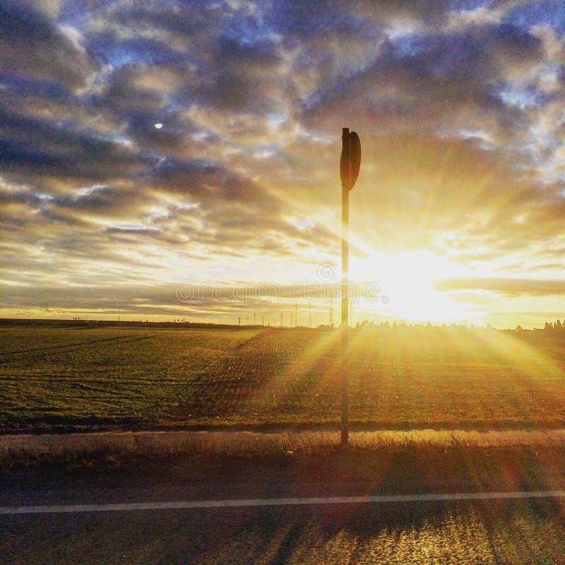Solnedgångskönhet arkivbilder