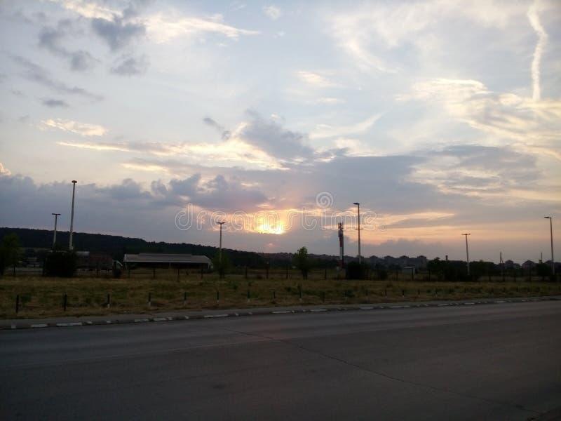 Solnedgångsommar arkivbild