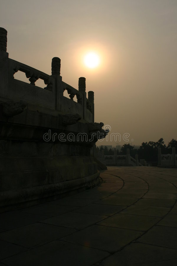 Solnedgångtempel Royaltyfria Foton
