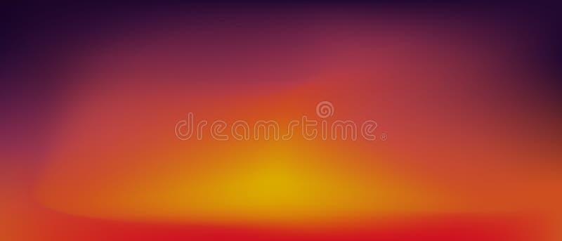 Solnedg?nglutningbakgrund vektor illustrationer