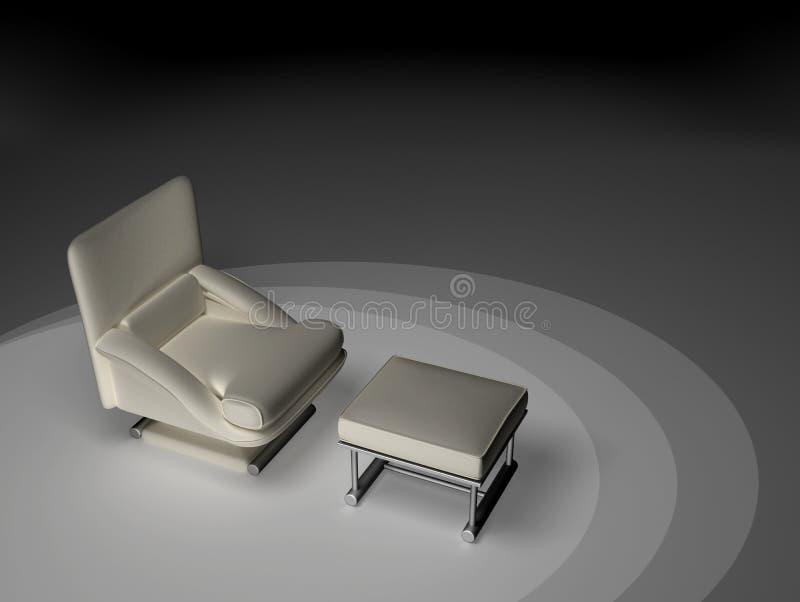 Solo asiento - blanco stock de ilustración